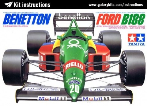 Box cover for Tamiya Bennetton Ford B188 in 1:20 scale