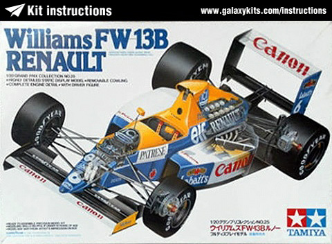 Box cover for Tamiya Williams Fw-13B Renault in 1:20 scale