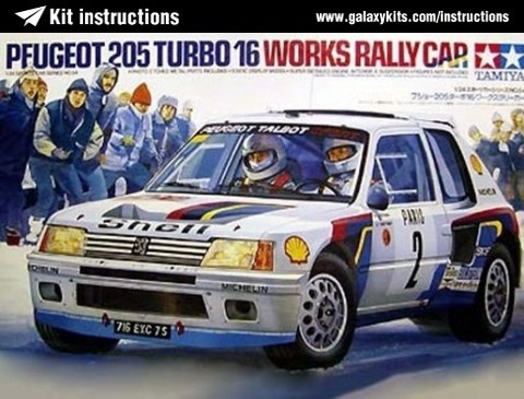 Box cover for Tamiya Peugeot 205 Turbo 16 in 1:24 scale