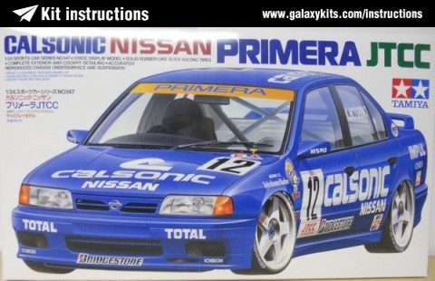 Box cover for Tamiya Nissan Primera JTCC Calsonic  in 1:24 scale