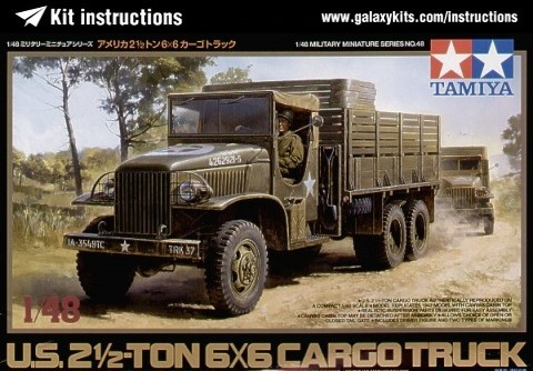 Box cover for Tamiya US Airfield Fuel Truck - 2 .5 Ton 6x6 in 1:48 scale