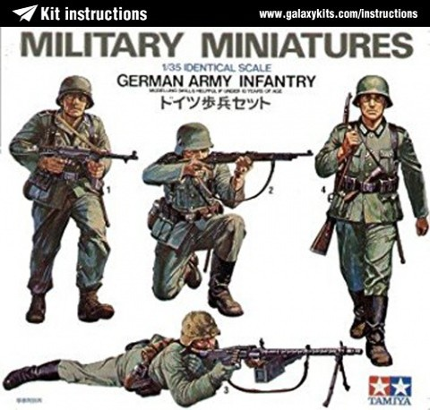 Box cover for Tamiya German Army Infantry in 1:35 scale