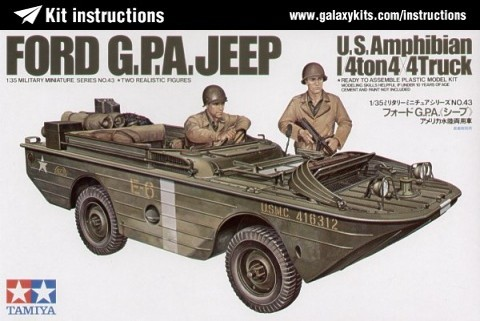 Box cover for Tamiya Ford G.P.A. Jeep U.S. Amphibian 1/4ton 4X4 Truck in 1:35 scale