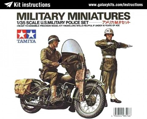 Box cover for Tamiya U.S. Military Police Set in 1:35 scale
