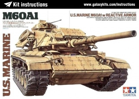 Box cover for Tamiya U.S. M60A1 w/Reactive Armor in 1:35 scale
