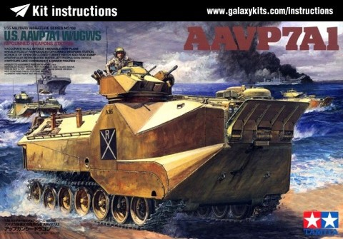 Box cover for Tamiya U.S. Marine AAVP7A1 with UGWS in 1:35 scale