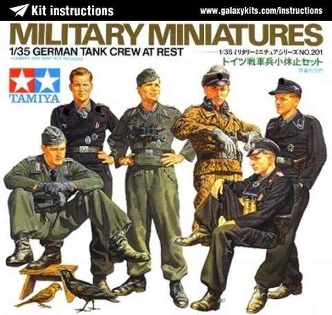 Box cover for Tamiya German Tank Crew at Rest in 1:35 scale