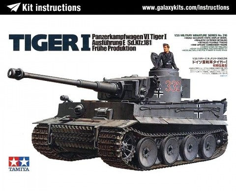 Box cover for Tamiya Pz.Kpfw.VI Ausführung E (Sd.Kfz.181) TIGER 1 (Early production) in 1:35 scale