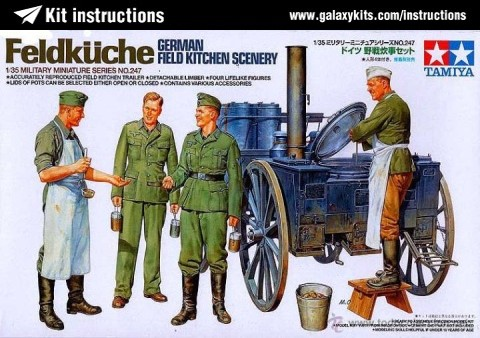 Box cover for Tamiya German Field Kitchen Scenery in 1:35 scale