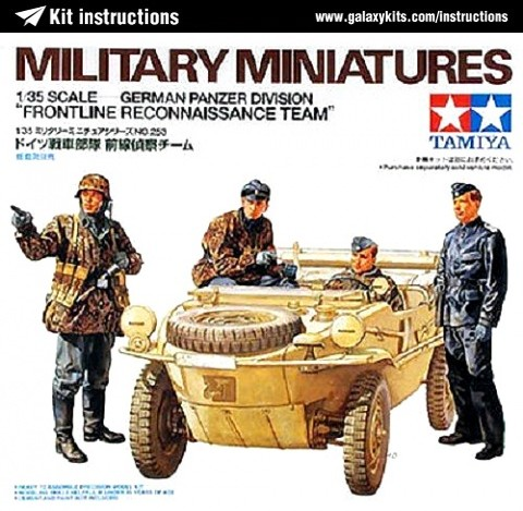 "Box cover for Tamiya German Panzer Division ""Frontline Reconnaissance Team"" in 1:35 scale"