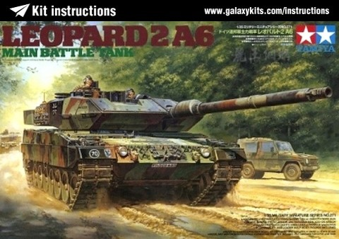 Box cover for Tamiya Leopard 2 A6 Main Battle Tank in 1:35 scale