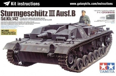 Box cover for Tamiya Sturmgeschütz III Ausf.B (Sd.Kfz.142) in 1:35 scale