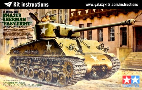 Box cover for Tamiya US Medium Tank M4A3E8 Sherman - Easy Eight European Theater in 1:35 scale