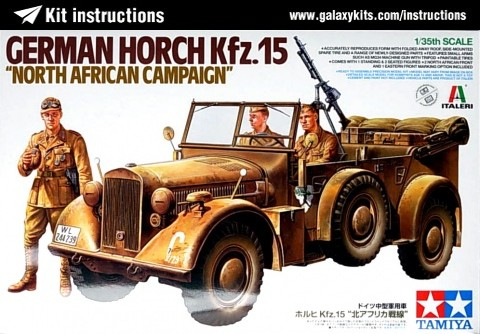 Box cover for Tamiya German Horch Kfz.15 - North Africa Campaign in 1:35 scale