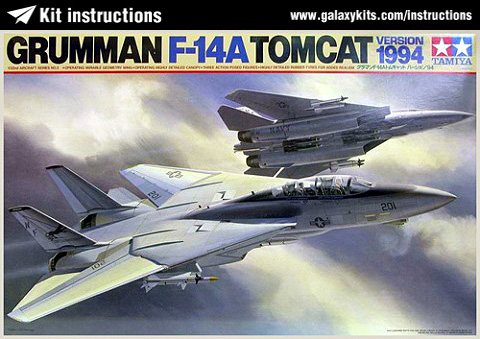 Box cover for Tamiya F-14A Tomcat 1994 Version in 1:32 scale