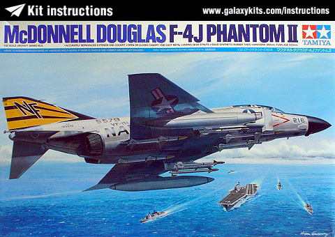 Box cover for Tamiya McDonnell F-4 J Phantom II in 1:32 scale