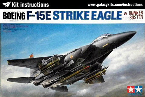 Box cover for Tamiya F-15E Strike Eagle - Bunker Buster in 1:32 scale