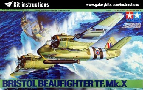 Box cover for Tamiya Bristol Beaufighter TF.Mk.X in 1:48 scale