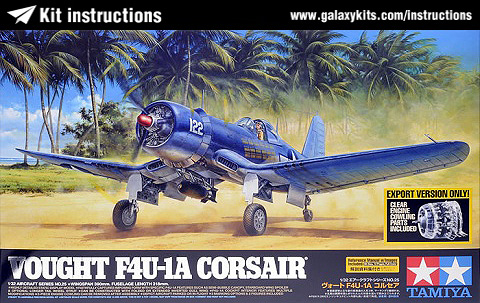 Box cover for Tamiya F4U-1D Corsair in 1:72 scale