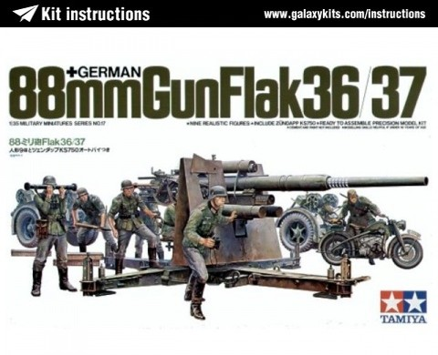 Box cover for Tamiya German 88mm Gun Flak 36/37 in 1:35 scale