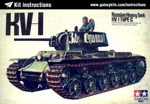 Box cover for Tamiya KV-1 Russian Heavy Tank  Type C in 1:35 scale