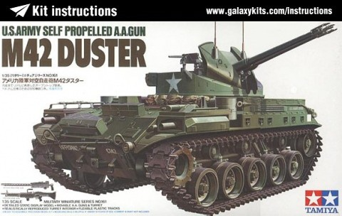 Box cover for Tamiya M42 Duster in 1:35 scale