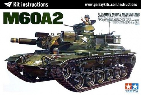 Box cover for Tamiya U.S. Army M60A2 Medium Tank in 1:35 scale