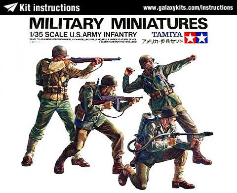 Box cover for Tamiya U.S. Army Infantry in 1:35 scale