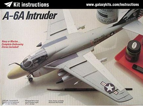 Box cover for Testors GRUMMAN A-6A INTRUDER in 1:48 scale