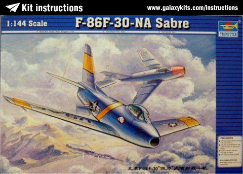 Box cover for Trumpeter F-86F-30-NA Sabre in 1:144 scale