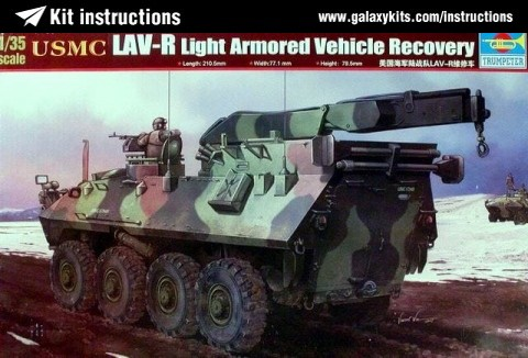 Box cover for Trumpeter USMC LAV-R Light Armored Vehicle Recovery in 1:35 scale