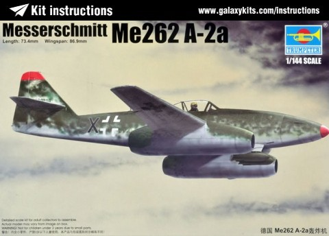 Box cover for Trumpeter Messerschmitt Me262 A-2a in 1:144 scale