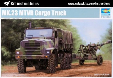 Box cover for Trumpeter Mk.23 MTVR Cargo Truck in 1:35 scale