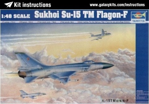 Box cover for Trumpeter Sukhoi Su-15TM Flagon F in 1:48 scale