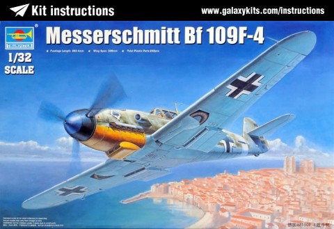 Box cover for Trumpeter Messerschmitt Bf 109K-4 in 1:32 scale