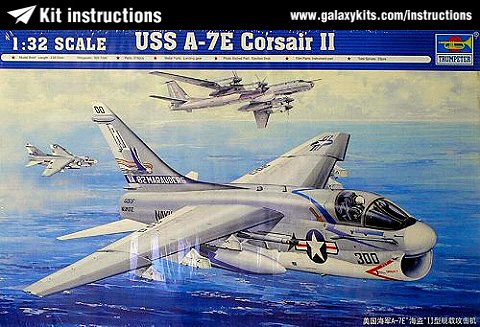 Box cover for Trumpeter A-7E Corsair II in 1:32 scale