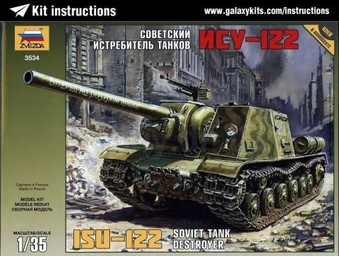 Box cover for Zvezda ISU-122 in 1:35 scale